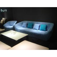 China Modern Hotel Lobby Sofas , Color Combination Fabric Sofa , blue fabric sofas wholesale