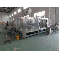 China Auto 3000kg SUS304 3in1 Glass Bottle Filling Machine 6000bph  PCl Control wholesale