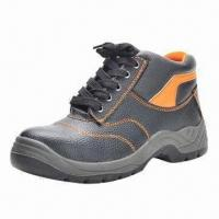 China Working Safety Shoes with Embossed Action Leather Upper, Ideal for Sports and Leisure wholesale