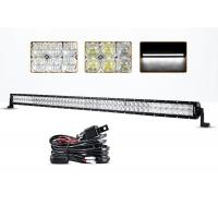China 54 Inch 300 Watt 5D 4x4 Off Road LED Light Bar 30000 Hours Life Span wholesale
