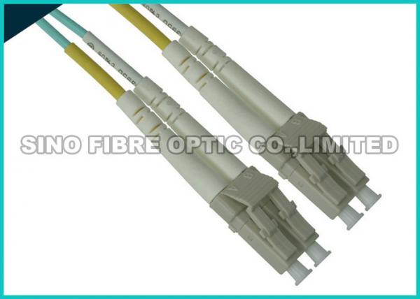 Quality La correction de fibre d'Uniboot LC mène, câble de correction de fibre d'Aqua de duplex de 10G OM3 à plusieurs modes de fonctionnement for sale