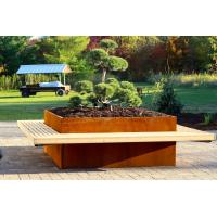 China Corten steel extra large planters for live trees with great price on sale