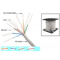 China Telecommunication Cat6 UTP Cable 350MZ Ethernet 0.56mm Twisted pair with Drain Wire wholesale
