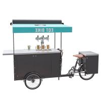 China 250W Electric Bicycle Vending Cart , Mobile Vending Cart For Beer CE Certificate wholesale