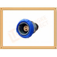 Buy cheap Push Pull 2 Pin Circular Connector Self Locking / Double Reed Locked from wholesalers