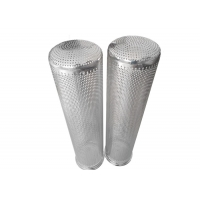 China 4mm Hole SUS 316 MeshFilterStrainer , Stainless Steel Basket Filter Polished wholesale