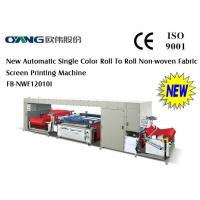 China Automatic Roll to Roll Non-Woven Fabric Screen Printing Machine for shopping bag wholesale