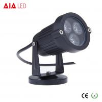 China IP40 round black 45 degree lens outdoor 3W LED garden lights for hotel wholesale