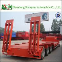 China Hot Sale Shengrun 3axle Lowbed Semi Trailer on sale