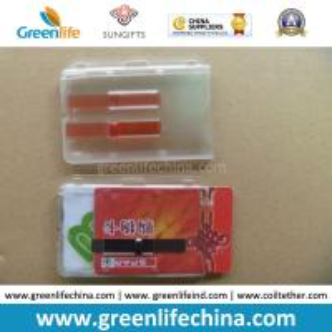 China New Style Rigid Plastic Designer Badge Buddy ID Holders on sale