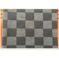 China Coat Smooth Black And White Buffalo Check Fabric 45% Wool 750g Per Meter wholesale