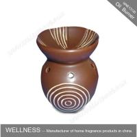 Different Classic Shaped Ceramic Aroma Oil Burner With Spiral Pattern