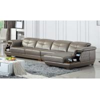China luxury living room genuine leather sectional sofa with storage wholesale