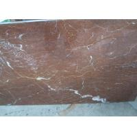 China Rojo Coral Real Marble Tiles , Red Marble Floor Tile  Building Project Application wholesale