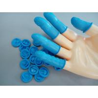 China Blue Powder Free Rolled Style Cleanroom Finger Cots Anti Corrosion For Industrial Use wholesale