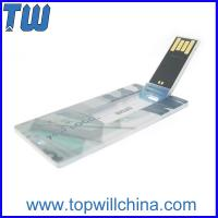 China Mini Card Plastic Usb Flash Drive 4GB 8GB Storage with Free Printing for Company Gift wholesale