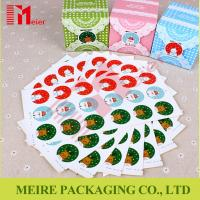 China Christmas Snowman Santa Claus Decoration Label Paper Self-adhesive Sticker wholesale