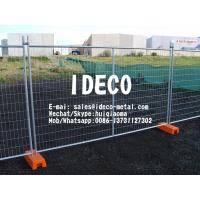 China Temporary Portable Fencing Panels with Plastic and Concrete Feet, Movable Welded Mesh Crowd Control Barricades on sale