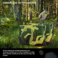 Russia camouflage color outdoor sport speaker with remote control
