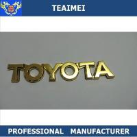 China Unique Custom Car Emblems Letters Decal With Strong Adhesive Tape wholesale