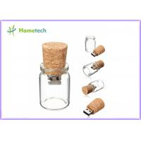 China Bottle Glass Wooden USB Flash Drive 2.0 For Wedding Giveaways 4GB 8GB wholesale