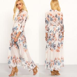 China 2018 New Style Chiffon Bohemian Long Dress wholesale