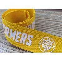 China Silk screen printed webbing with customized pattern poly band wholesale