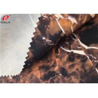 China Ester Marble Printing 95 Polyester 5 Spandex Fabric Bonded With TPU Film wholesale