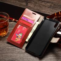 China Sony M4 Aqua Durable Sony Xperia Leather Case Wallet Stand Handmade Anti - Dirt wholesale