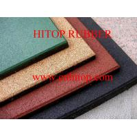 China rubber floor tile on sale