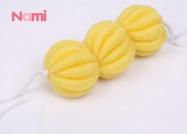 Quality Ball Shape Back Bath Sponge PE Material Multi - Color For Daily Necessity for sale