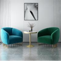 China Modern Nordic Commercial Meeting Armchair Sofa With Metal Frame wholesale
