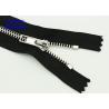 Buy cheap Sterling Silver Metal Open Ended Zips , Brass Ykk Type Teeth Metal Coat Zippers from wholesalers