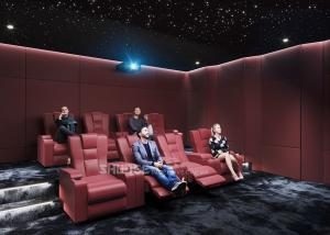 China Red Electric  Leather Cinema Sofa  For Home  Cinema System With Screen / Speaker/ Projector wholesale