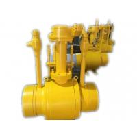 China API 6D Reduce Bore Gear operation Ball Valve Full Welded PN16 - PN25 Pressure wholesale