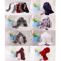 China Rabbit Fur Scarves Fur Scarf Fur Shawl With Flowers Fur 7 Colors 7 Piece/Lot wholesale