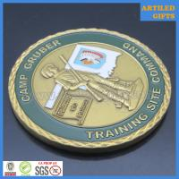 Camp Gruber Training Site Command Great Seal of The State of Oklahoma coin 3