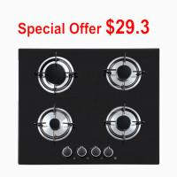 China Built In Type 4 Burner Glass Top Gas Stove , 4 Ring Gas Hob For Cooking on sale
