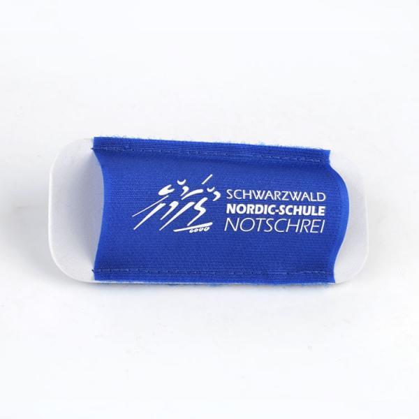 Quality 100% Nylon Customised Ski Strap holder For ski pole wrap White Logo for sale