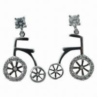 China Popular Unique Design 925 Sterling Silver Earrings, Well Like by The US and Europeans wholesale