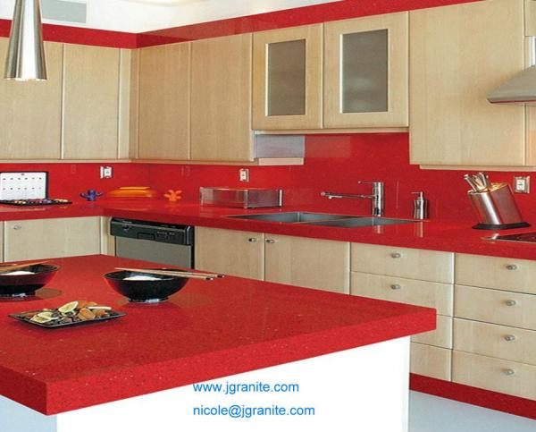 Ruby Red Granite Countertop  Hot Sale Royal Gold Red Granite Kitchen