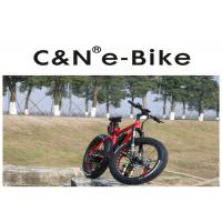 China 26 Inch Enduro Electric Fat Tire Snow Bike Red Color Aluminum Alloy Frame wholesale