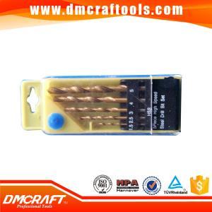 China 5PCS Titanium Coated Straight Shank Hss Twist Drill Bits Set on sale