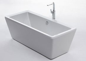 Quality Contemporary Acrylic Free Standing Bathtub PMMA Material 1700 * 800 * 600mm for sale