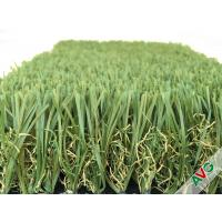 China Durable Four Tone 12400Dtex / 8f Hybrid Wave Outdoor Artificial Grass With W Circle And S Wing Blade wholesale