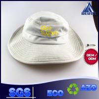 China Casual Hiking Fishing Boonie Bucket Hat , Embroidery Logo Beige Bucket Hat wholesale