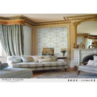 China Deep Embossed PVC Waterproof Wallpaper Decorated For Household Free Sample wholesale