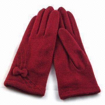Quality Ladies Wool Gloves, Customized Sizes are Accepted for sale