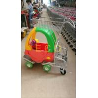 China Cartoon Kids Supermarket Shopping Trolley With Toy Car And Baby Seat wholesale