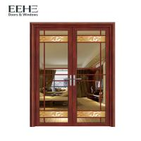 China Security Internal Aluminum Window Door With Double Tempered Glass 4mm on sale